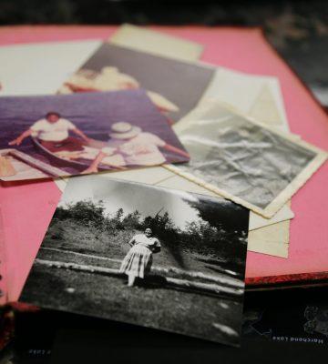 A scrapbook of photos.
