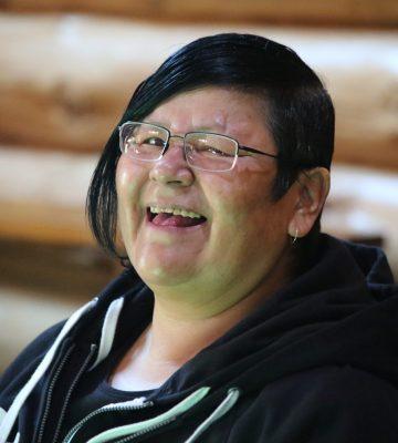 Laughing community member